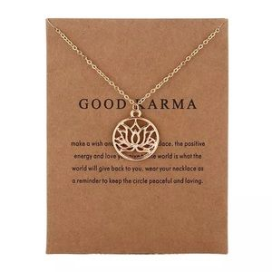 "Jewelry - ""Good Karma"" Necklace in Gold"